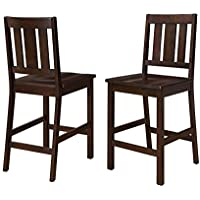 Better Homes and Gardens Bankston Counter Height Dining Stool, Set of 2, Mocha
