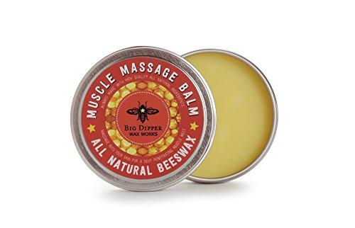 Pure Beeswax Muscle Massage Balm - 2 oz. (Aromatic Massage Balm)
