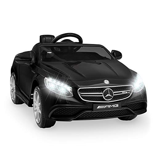 Best Choice Products Kids 12V Licensed Mercedes-Benz S63 Coupe Ride On Car, w/ Parent Remote Control, AUX Function, 3 Speeds - Black