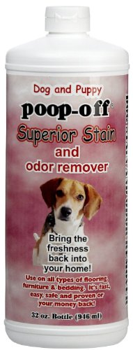 Poop-Off Superior Stain and Odor Remover Squirt Top for Dogs and Puppies, - Removal Poop Stain