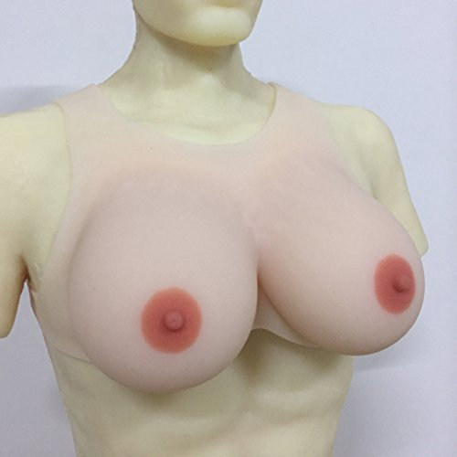 IVITA 1200g Fake Silicone Breast Forms For Crossdresser Artificial Breast : Best Shemale Sex Toy