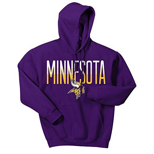Zubaz NFL Minnesota Vikings Men's Gradient Logo Hoodie, Large, Purple