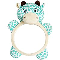 Moligh doll Baby Plush Cartoon Animal Car Mirrors Back Seat, Driving Shatterproof Big and Clear Rear View of Your Newborn Infant in The Backseat Mirrors Fits to Most Vehicles