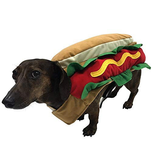 Hot Dog Costume for Small Dogs (Medium)