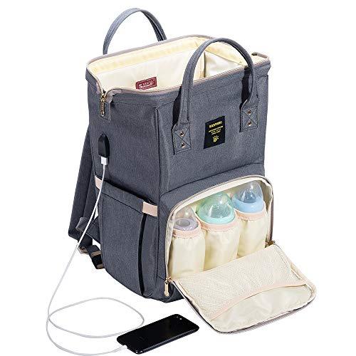 SUNVENO Diaper Backpack Travel Mummy Bag Baby Diaper Nappy C