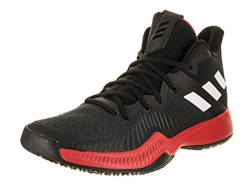Mad Mesh - Adidas Men's Mad Bounce Basketball Shoe, Core Black/White/Semi Frozen Yellow, 11 M US