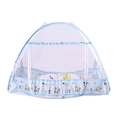 KateDy White Baby Nursery Mosquito Net,Bed Crib Canopy Netting Curtains Dome Hanging Round Insect Fly Screen,Insect Protection Repellent Shield(No Bed&Bed Crib Canopy&Netting Dome Hanging)