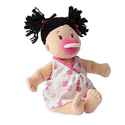 Manhattan Toy Baby Stella Black Hair Soft First Baby Doll, 15-Inch: Toys & Games