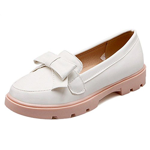 Slip Shoes On Women White Pumps FizaiZifai RzSP5