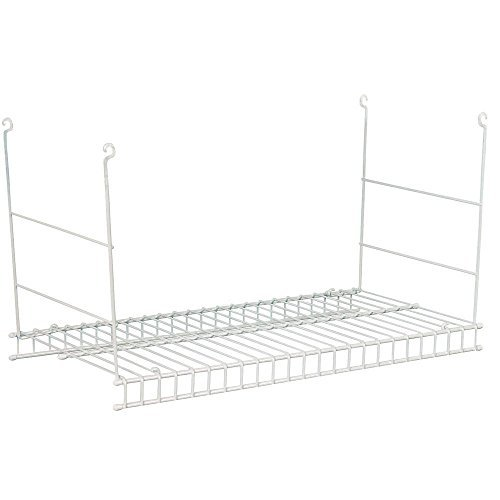 Closet Wire Shelves - Closetmaid 24 In. Hanging Steel Wire Shelf for Laundry Rooms or Closets in Classic White
