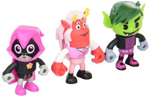Mattel Teen Titans Go! Mini Trigon, Happy Raven & Beastboy Exclusive Figures, 3-Pack ()