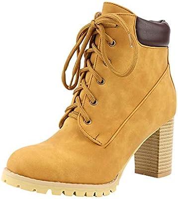 ღLILICATღ Botas con Cordones Delanteras para Mujer Zapato ...