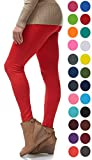 LMB | Seamless Full Length Leggings | Variety of Colors | One Size | Red