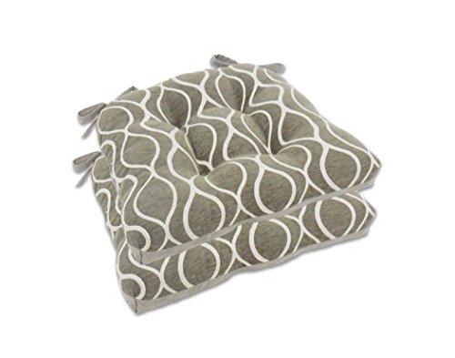 Arlee Chenille - Juego de 2 Almohadillas para Orejas para Silla geométricas con Abrazaderas, Carbón, 1