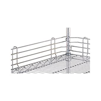 """Metro L48N-4C Super Erecta Chrome Plated Steel Stackable Ledge, 48"""" Width x 4"""" Height"""