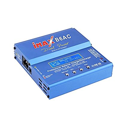 Ballylelly Blue 80W iMAX B6AC 100V-240V Lipo NiMH 3S RC Batería de ...