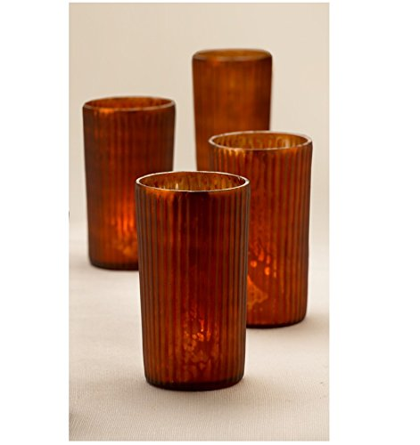 Serene Spaces Living Antique Frost Mercury Glass Votive Holders - Handmade Glass - Measure 2.75