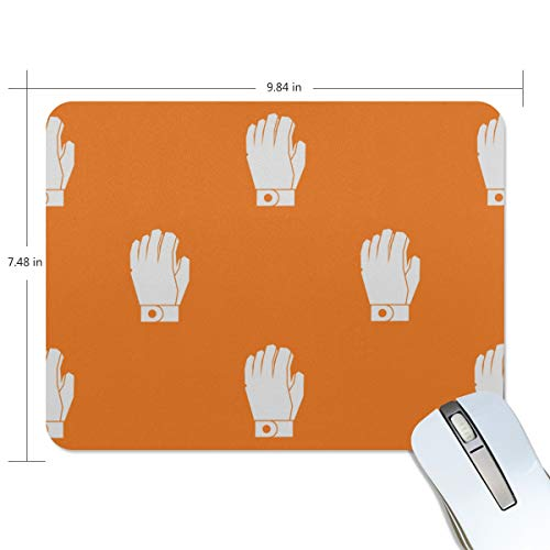 Fashion Retro Unique Custom Mousepad Leather Gloves Hand-Painted Creative Printing Non-Slip Rectangle Natural Rubber Fabric Mouse Mat Gaming Mouse Pad