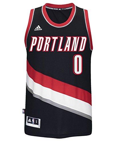 Damian Lillard Portland Trail Blazers Adidas NBA Swingman Jersey - Black (XX-Large)