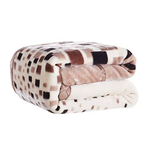 Super suave franela de lana All Seasons luz salon/dormitorio manta caliente (150x200cm)