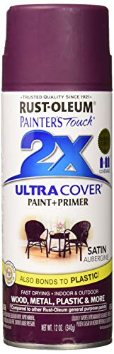 - Rust-Oleum 257419 Painter's Touch 2X Ultra Cover, 12-Ounce, Satin Aubergine