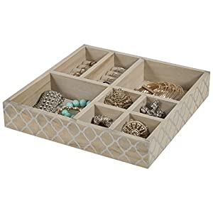 Amazoncom Wood Jewelry Tray jewelry Organizer 8 Section