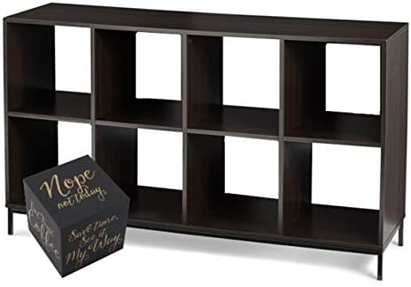 Better Homes and Gardens 8-Cube Metal Base Organizer Bookcase - the best modern bookcase for the money