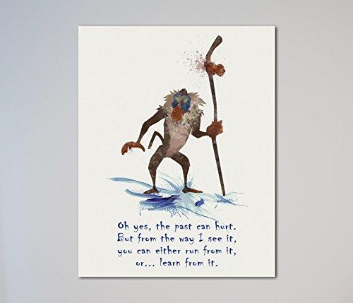 """The Lion King Rafiki Quote 11"""" x 14"""" Print"""