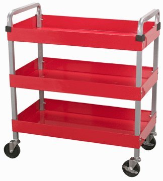 U.S. General 16'' x 30'' Three Shelf Service Cart