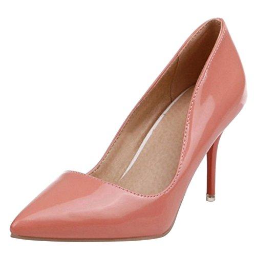 Scarpe Tacco Alto con Pink Pompe Moda Chiuse Stiletto Donne RAZAMAZA wpxfw