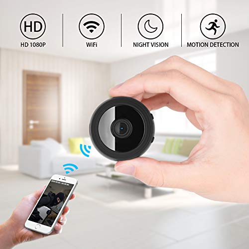 Hidden Camera 1080P HD Built-in Battery Motion Detection WiFi Wireless Night Vision Mini Cam For Home Office Hotel Security as Nanny Cam Video Recorder For iPhone/Android