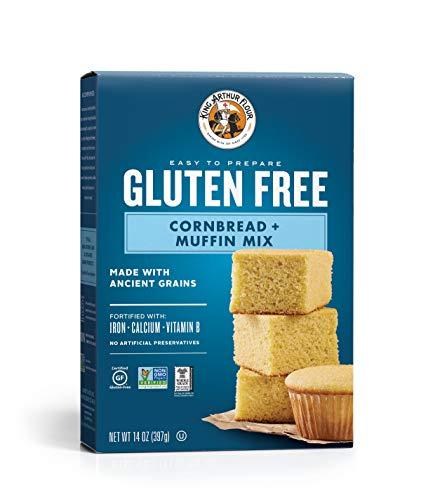 - King Arthur Flour, Cornbread + Muffin Mix, Gluten Free, 14 Ounce