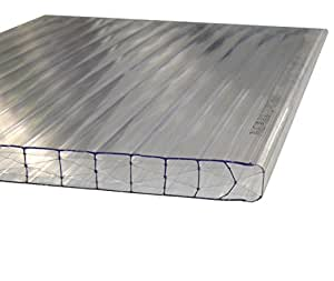 Andreas Ponto–Planchas unilateral con UV koextrusion, grosor 16mm, transparente, 500x 1,6x 1,2cm, 425095580198