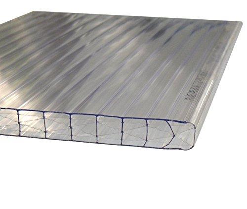 Andreas Ponto Stegplatten mit einseitiger UV-Koextrusion, Stärke 16 mm, klar, 300 x 1,6 x 1,2 cm, 425095580027