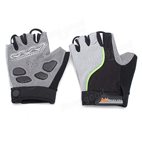 Bicycle Bike Cycling Gloves LED Lighting Half Finger Gloves by Anddoa (Image #9)