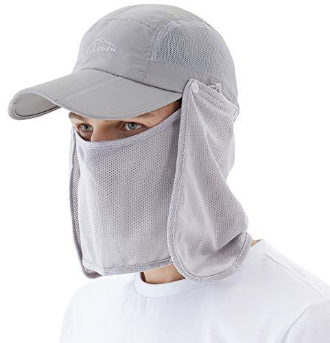 Decentron Kids Large Brim UV Protection Sun Hat with Neck Flap Mesh Fishing Cap