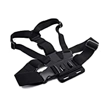 Elastic Strap Action Camera Chest Harness Mount for Gopro Hero Series,SJ4000,SJ5000,SJ6000,SJ7000,SJ8000,Xiaomi yi,SJCAM Helmet Camera(Not Include Camera)