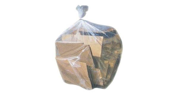 100 // Case 43W x 46H Plasticplace W56LDC1 Clear Plasaticplace 56 Gallon Glutton Trash Bags 1.5 Mil 43W x 46H