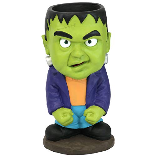 Sunnydaze Frankenstein Halloween Large Statue with Built-in Candy Bowl Dish, 27-Inch Tall ()