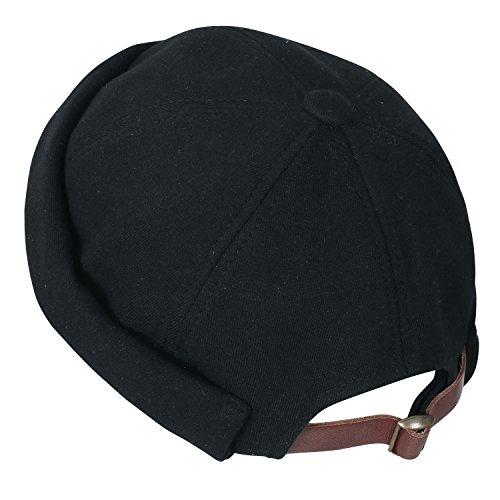 ililily Beanie Back Hat Cap Short Soft Solid Cotton Casual Black Strap Color Rwq4rIR