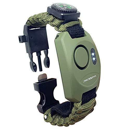 DRIDOUAM 8-in-1 Wrist Personal Alarm Paracord Survival Bracelet Self-Defense Emergency