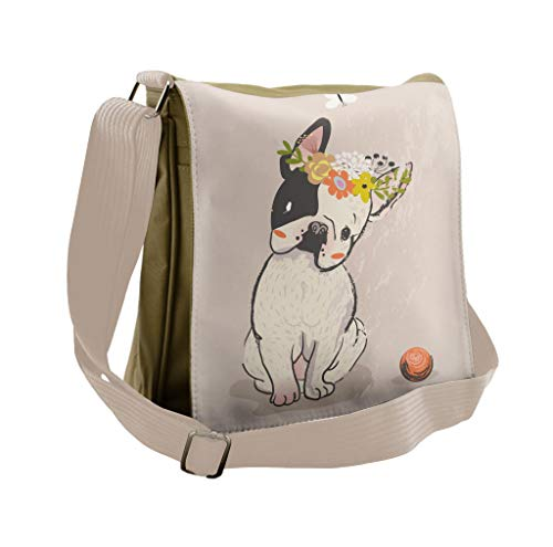french bulldog messenger bag - 1