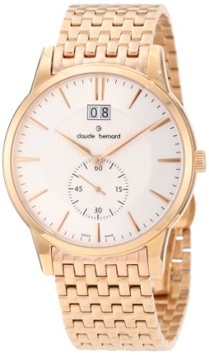 Claude Bernard Men's 64005 37RM AIR Classic Gents Rose Gold PVD Stainless Steel Watch
