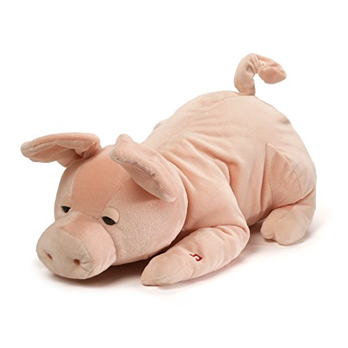 (GUND Wiggles Snoring Pig Animated Stuffed Animal Plush, Pink, 17