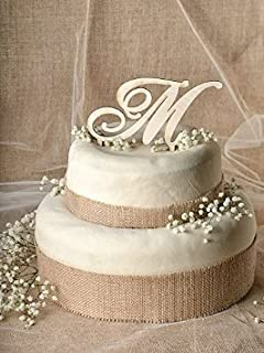 rustic wedding cake topper wood cake topper initial cake topper in any letter a b c d e f g h i j k l m n o p q r s t u v
