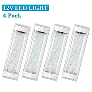 41V7Tq EX4L. SS300 SUPAREE 12V LED Auto Innenbeleuchtung Universal RV Deckenleuchte 72LEDs Lampe Innenbeleuchtung für Wohnwagen Wohnmobil…