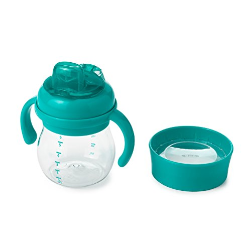 OXO Tot Transitions Soft Spout Training Cup Set, Teal, 6 Ounce