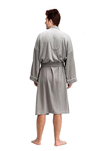 DandyChic Men s Kimono Cotton Robes Lightweight Spa Robe ... 8d04ad567