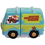 Westland Giftware Magnetic Ceramic Salt and Pepper Shaker Set, Scooby-Doo Gang and Mystery Machine, Multicolor