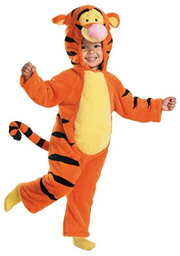[Deluxe Tigger Toddler Costume - Toddler Small] (Tigger Tail)